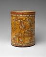 Vessel, Throne Scene, Ceramic, pigment, Maya