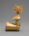 Owl Staff Head, Gold, Zenú