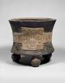 Tripod Vessel with Date Glyph, Ceramic, Aztec
