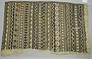Barkcloth Panel (Masi kesa), Barkcloth, pigment, Fijian