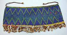 Cache-Sexe, Glass beads, cotton yarn, cowrie shells, metal (?), Kirdi, Fali group
