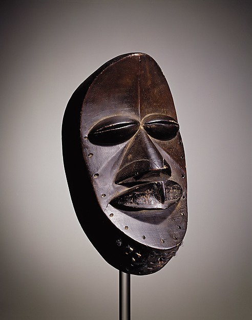 Mask, Dan, Wood, hair, We peoples