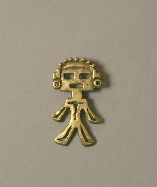 Figure Pendant, Gold (cast), Calima (Yotoco)