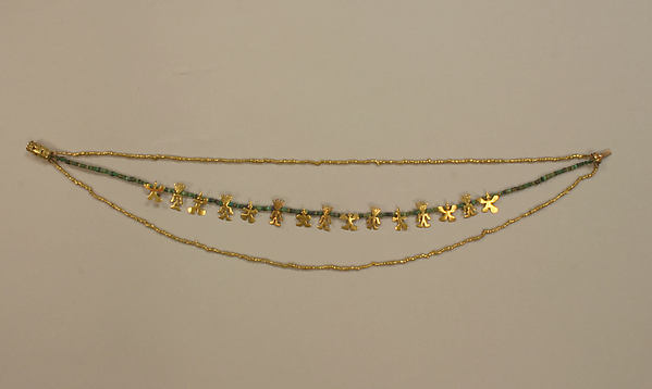 Necklace, Gold (cast and hammered), Calima (Yotoco)