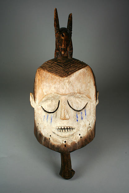 Helmet Mask (Hemba), Wood, pigment, Suku peoples