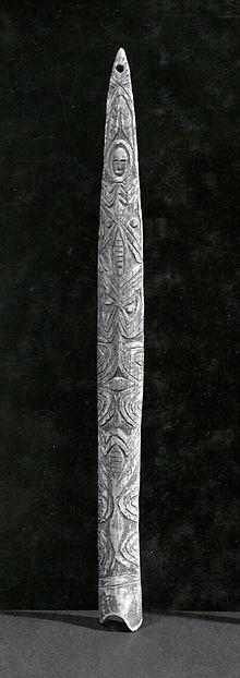 Arm Ornament, Bone, pigment, Abelam people