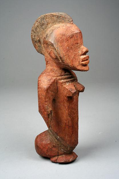Half Figure: Female, Wood, pigment, Burkina Faso