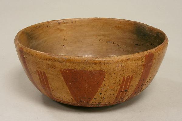 Painted Bowl, Ceramic, slip, pigment, Michoacán