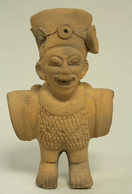 Anthropomorphic Bird Figure, Ceramic, Tolita-Tumaco