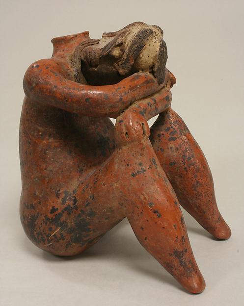 """Mourning"" Figure Vessel, Ceramic, Nayarit"