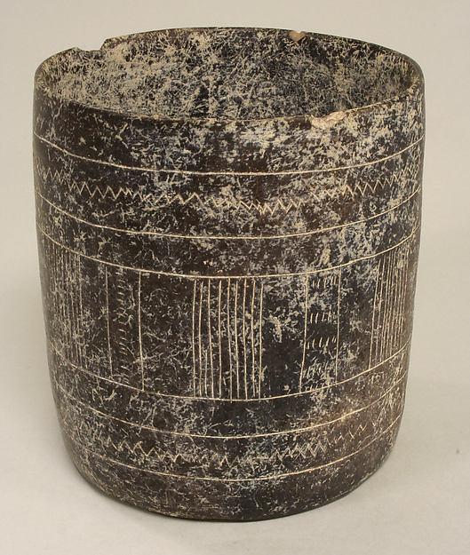 Cylindrical Vessel, Ceramic, slip, Colima