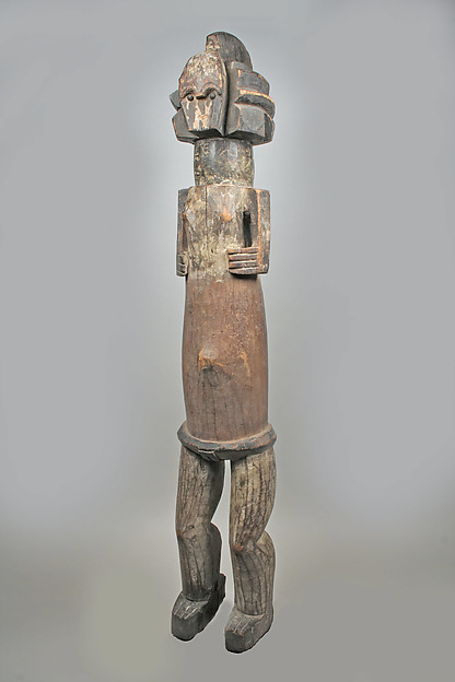Female Reliquary Figure, Wood, metal, pigment, Mbete peoples