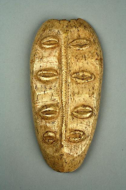 Bwami Maskette: Four Sets of Eyes, Bone, Lega peoples