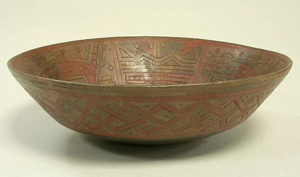 Bowl, Ceramic, pigment, Paracas