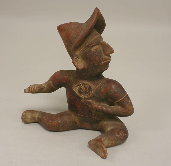 Warrior Figure, Ceramic, Colima
