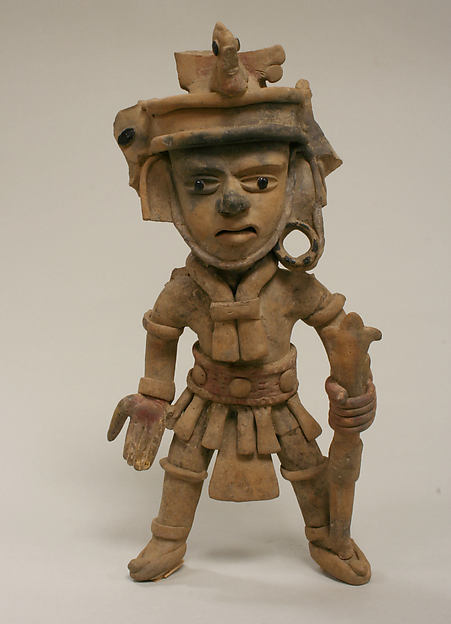 Ceramic Standing Warrior Figure, Ceramic, pigment, Remojadas
