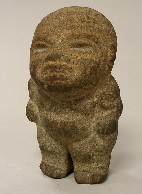 Standing Figure, Serpentine (metapmorphic), Olmec