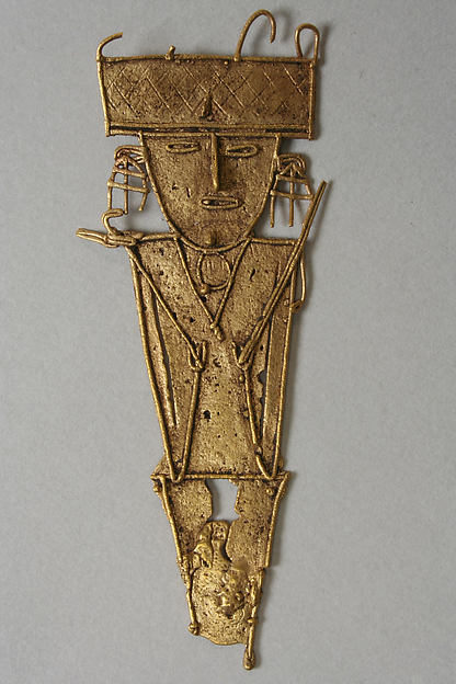 Male Figure (tunjo), Gold, Muisca