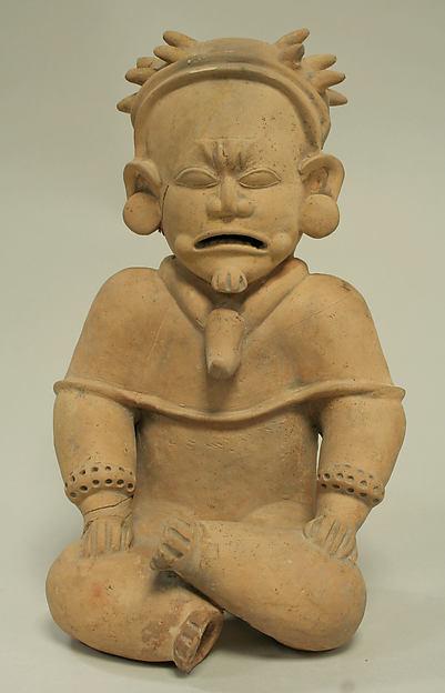 Ceramic Seated Male, Ceramic, Bahia