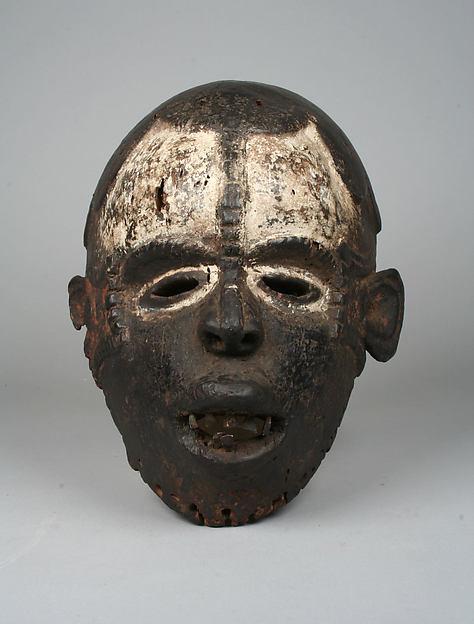 Mask, Wood, metal, pigment, Okpoto peoples, Idoma group