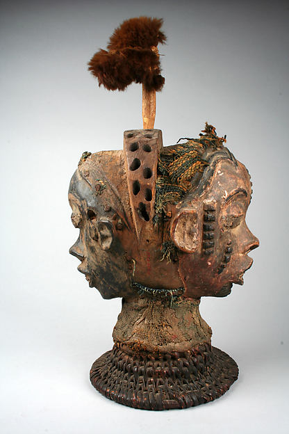 Headdress: Janus, Wood, cane, cloth, fur, pigment, nails, Boki peoples