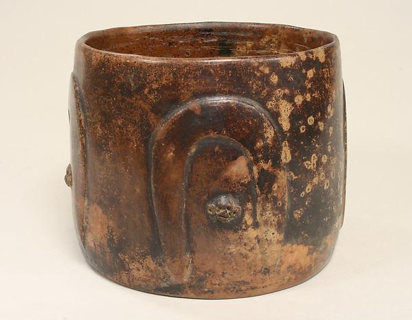 Cylinder Vessel, Ceramic, Colima