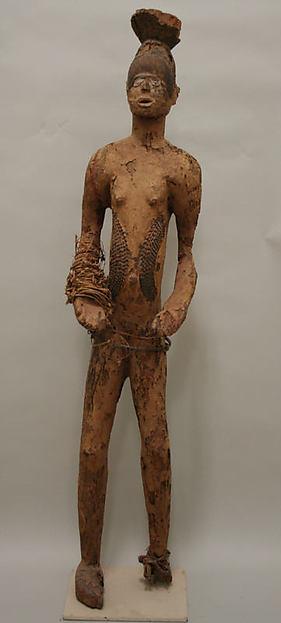 Figure: Female, Wood, hide, fiber, cloth, mud, pigment, Igbo peoples