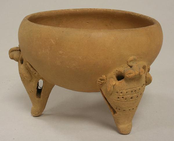 Tripod Vessel, Ceramic, Diquís