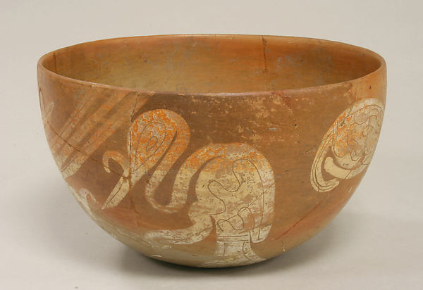 Bowl with Bird Design, Ceramic, Nopiloa