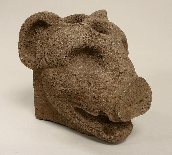 Peccary Head Hacha, Stone, Veracruz