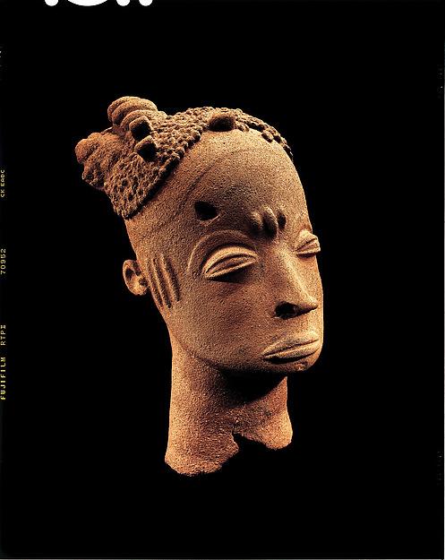 Memorial head, Terracotta, Akan peoples