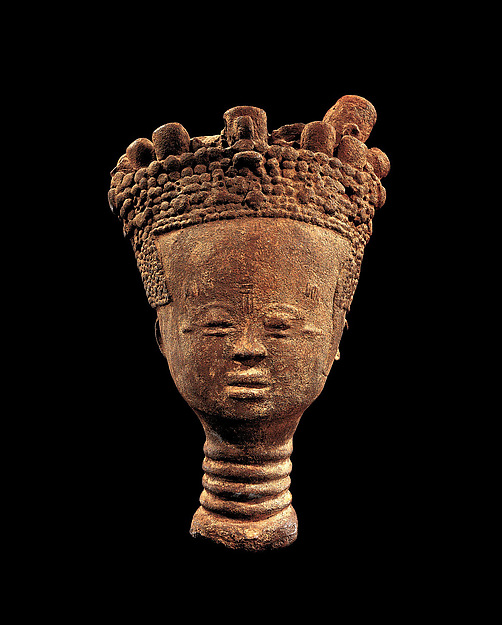 Memorial head, Terracotta, Akan peoples; Twifo-Heman traditional area, Ghana