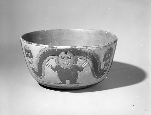 Bowl, Ceramic, post-fired paint, Paracas
