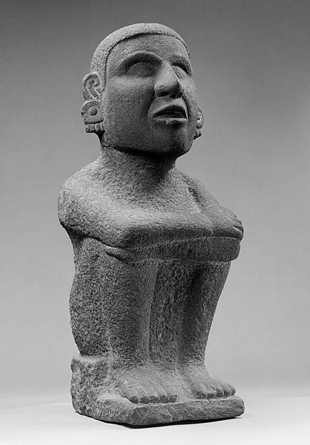 Seated Male, Stone, Aztec