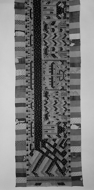 Ceremonial Banner (Palepai), Cotton, silver wrapped thread, Lampung