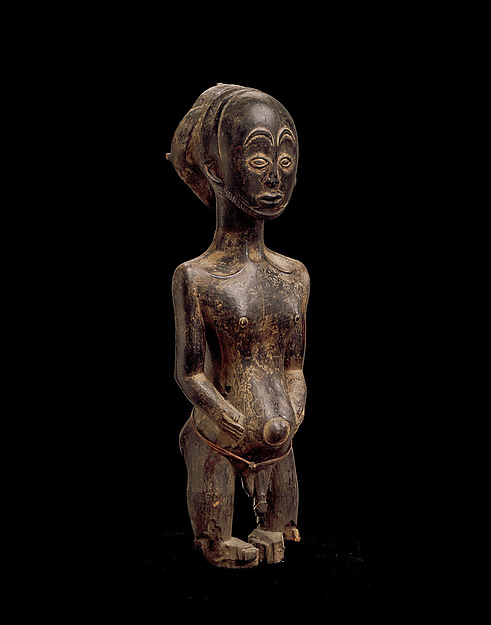 Commemorative figure, Wood, Hemba peoples