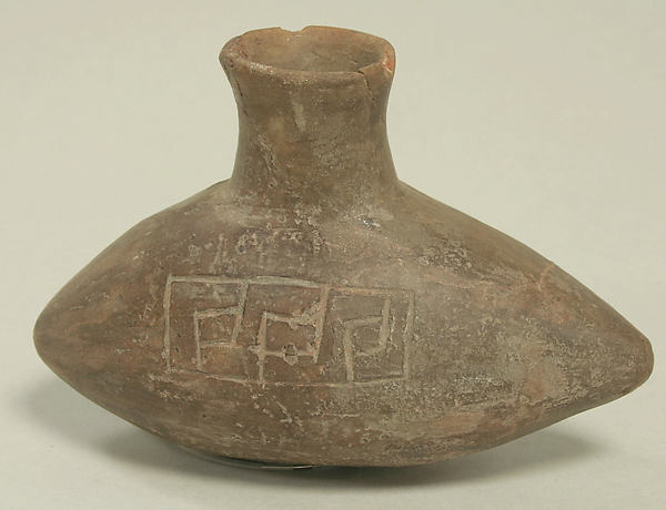 Bottle, Ceramic, pigment, Paracas