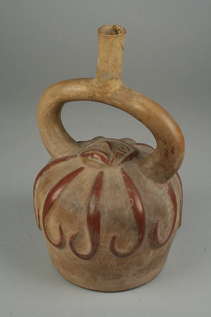 Bottle, Starfish, Ceramic, Moche