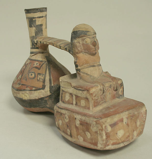 Double Chambered Bottle, Ceramic, Wari