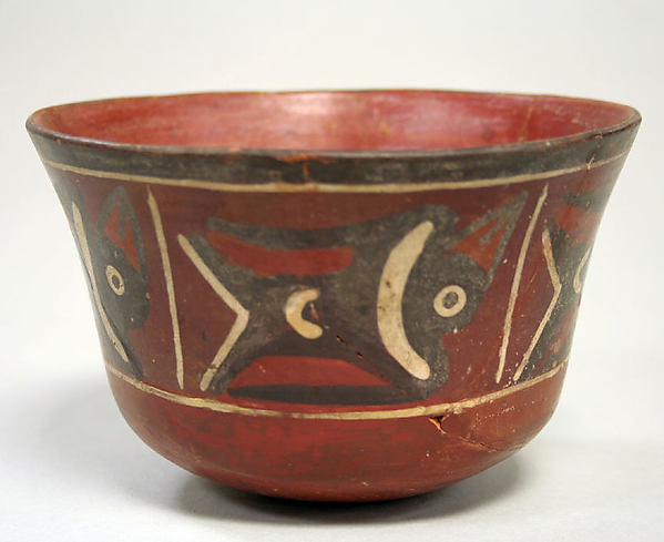Painted Bowl with Birds, Ceramic, Nasca
