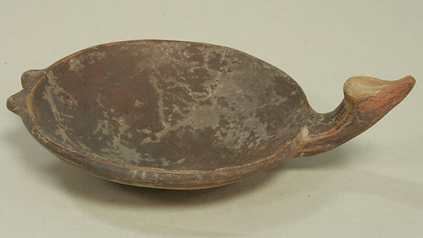 Miniature Dish with Handle, Ceramic, Inca
