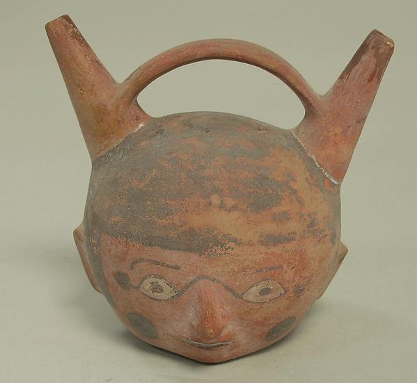 Bottle, Head, Ceramic, Wari