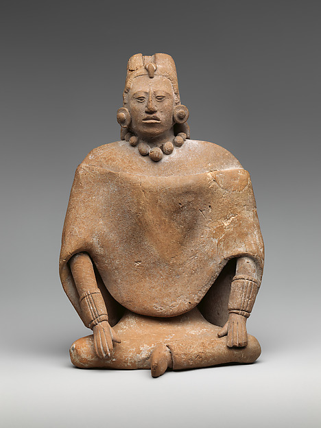 Seated Female Figure, Ceramic, Maya