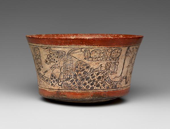 Bowl, Mythological Scene, Ceramic, Maya