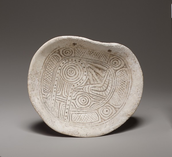 Pendant with Serpent Design, Shell, Mississippian
