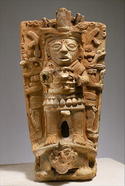 Censer Support, Ceramic, Maya
