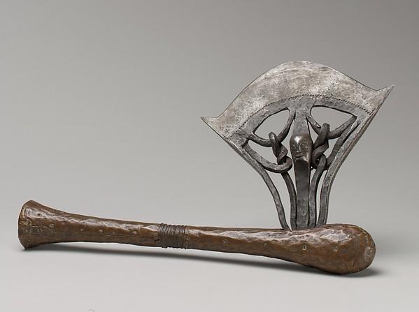 Axe, Iron, copper, wood, Songye peoples