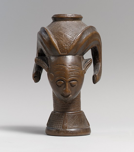 Vessel: Head, Wood, Kuba peoples