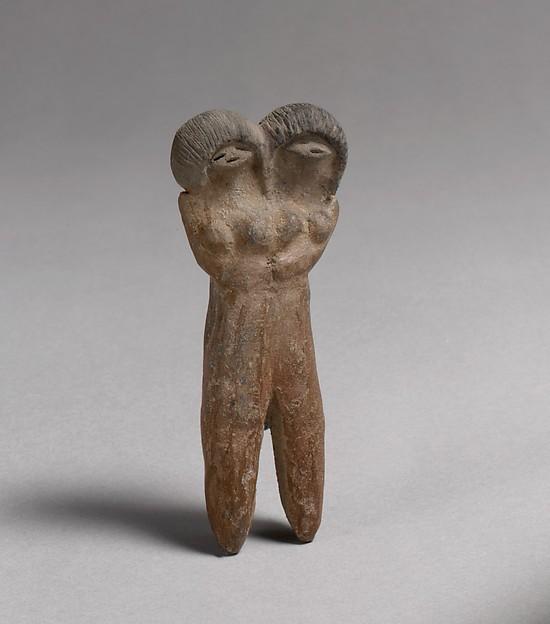 Double-headed figure, Ceramic, Valdivia