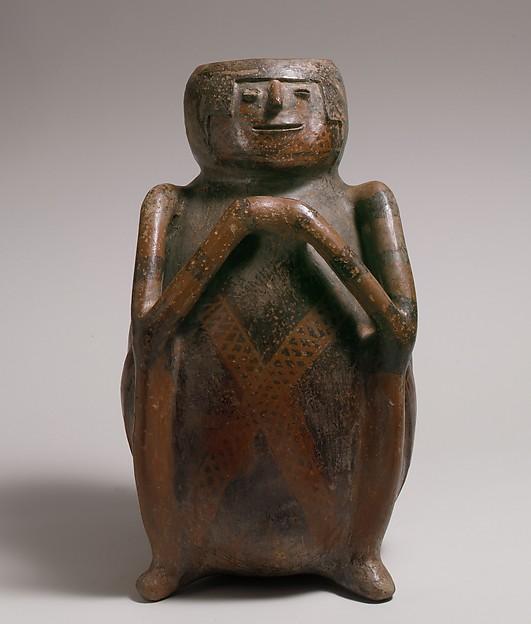 Seated Figure Vessel, Ceramic, Capulí